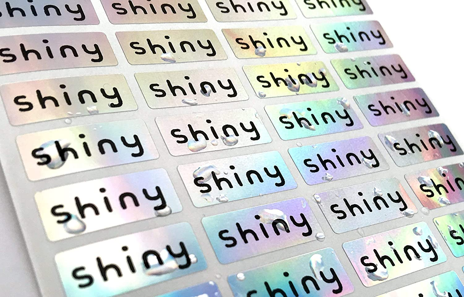 144 Silver Hologram Small Name Stickers -Daycare Labels- Kids labels- Small  Size- Customized Labels - Waterproof Labels