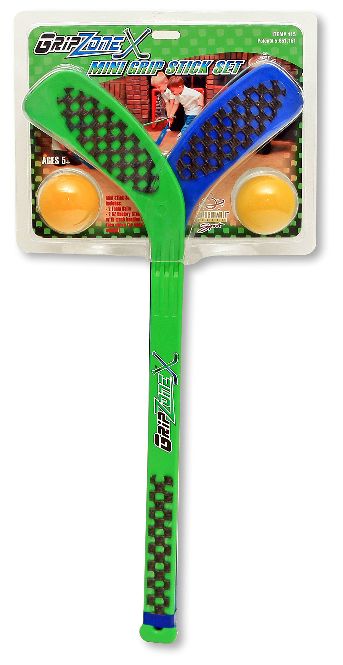 Fun Gripper Grip Zone Mini 2-Pk Hockey Stick Set W/2-Foam Balls by:Saturnian I by Fun Gripper