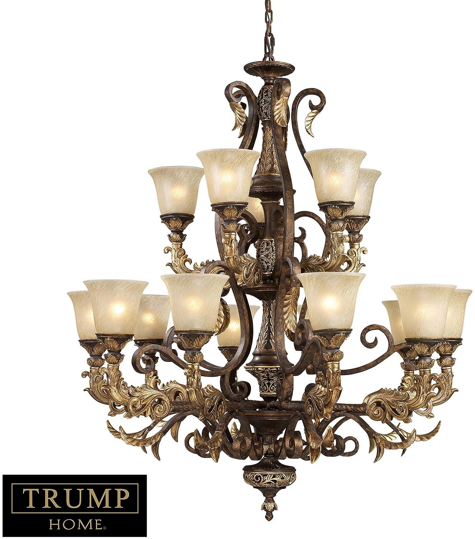 Elk lighting 2166105 15 light chandelier burnt bronze trump elk lighting 2166105 15 light chandelier burnt bronze trump regency amazon mozeypictures Gallery