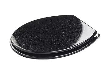 Croydex Abattant WC paillettes noir: Amazon.fr: Cuisine & Maison