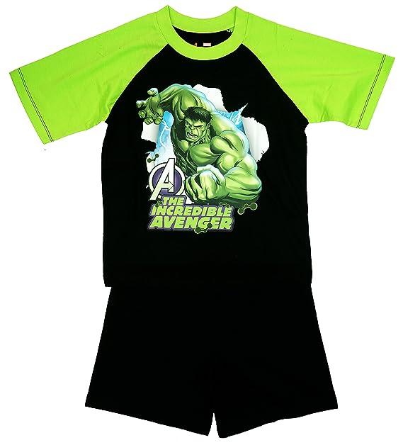 de niño Marvel Hulk Los Increíbles Avenger Shorty Pijama talla de 3A 10 años - Negro