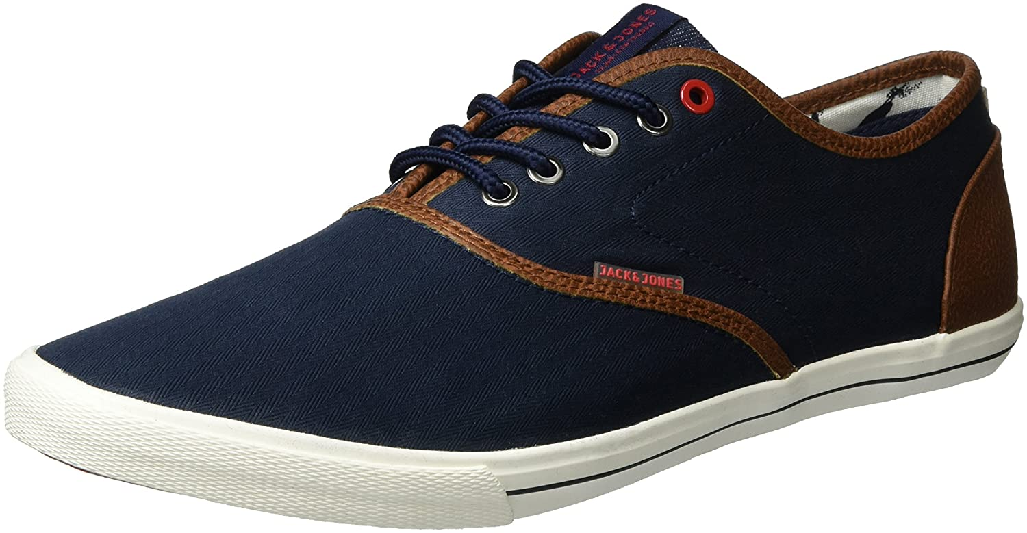 Mens Jfwspider Herringbone Mix Navy Blazer Low-Top Sneakers Jack & Jones