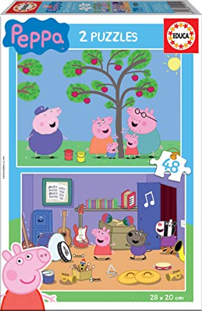 Oferta amazon: Educa Peppa Pig 2 Puzzles de 48 Piezas, multicolor (15920)