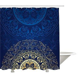 Yeuss Rideau de Douche Royal Blue par,Design Oriental démodé ...