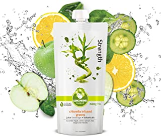 product image for LEMONKIND Infused Greens with Ginger and Chlorella, Superfood Cleanse Juice – Detox & Hydration Boost, Strength (12oz, Pack of 10)