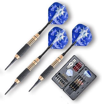 Dartpfeile Dartpfeil Softdarts Darts Dartspiel Metallspitze 12 Stück Steeldart