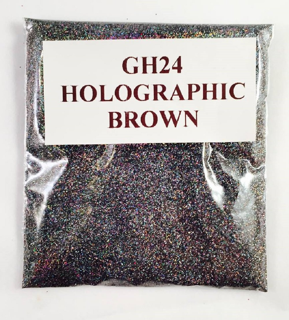 (GH24 – HOLOGRAPHIC BROWN 100G) GLITTER NAIL ART COSMETIC CRAFT FLORIST WINE GLASS GLITTER TATTOO N/A