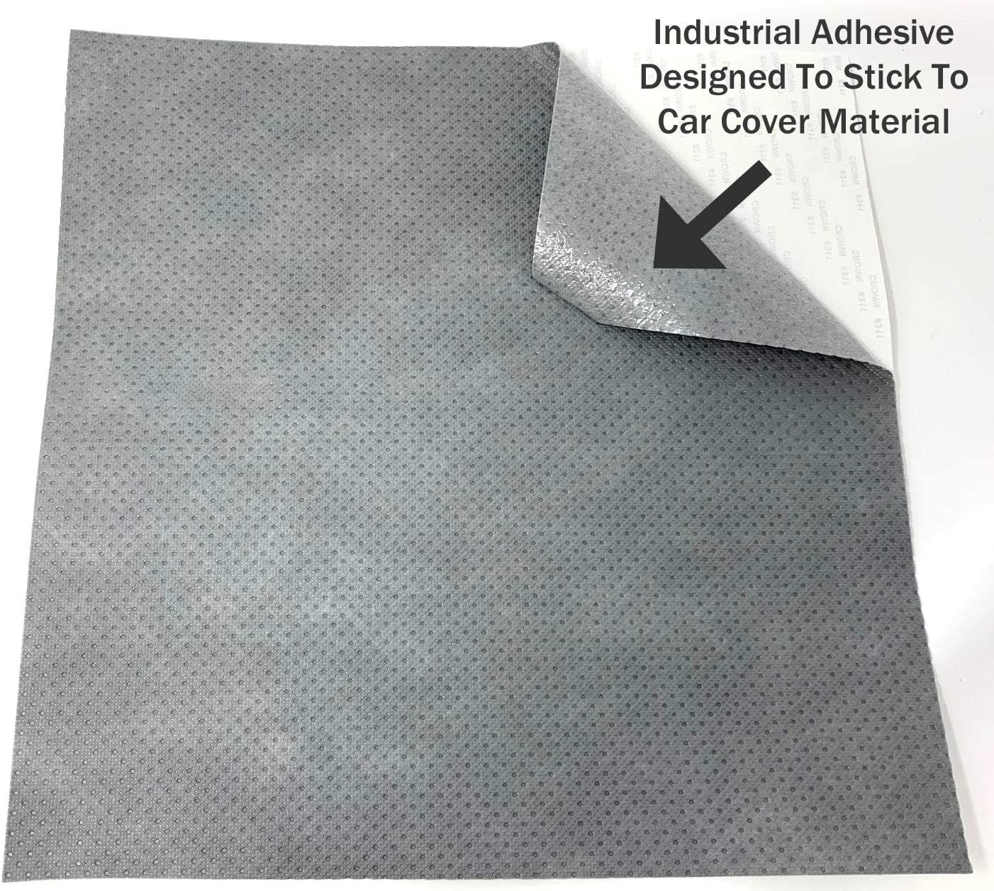 Polypropylene 2 Pack Patch for Car Covers Motorcycle Covers and More Material RV Covers Strong Self Adhesive Backing Car Covers Use On Boat Covers 1 ft x 1ft Patch 2L, 3L, 4L, 5L