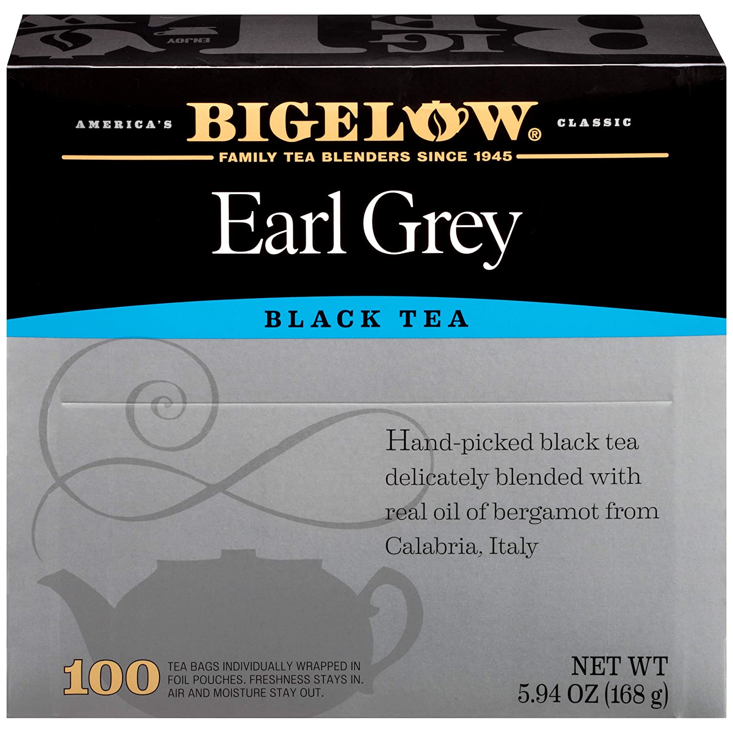 Bigelow Earl Grey Black Tea - 100 Tea Bags