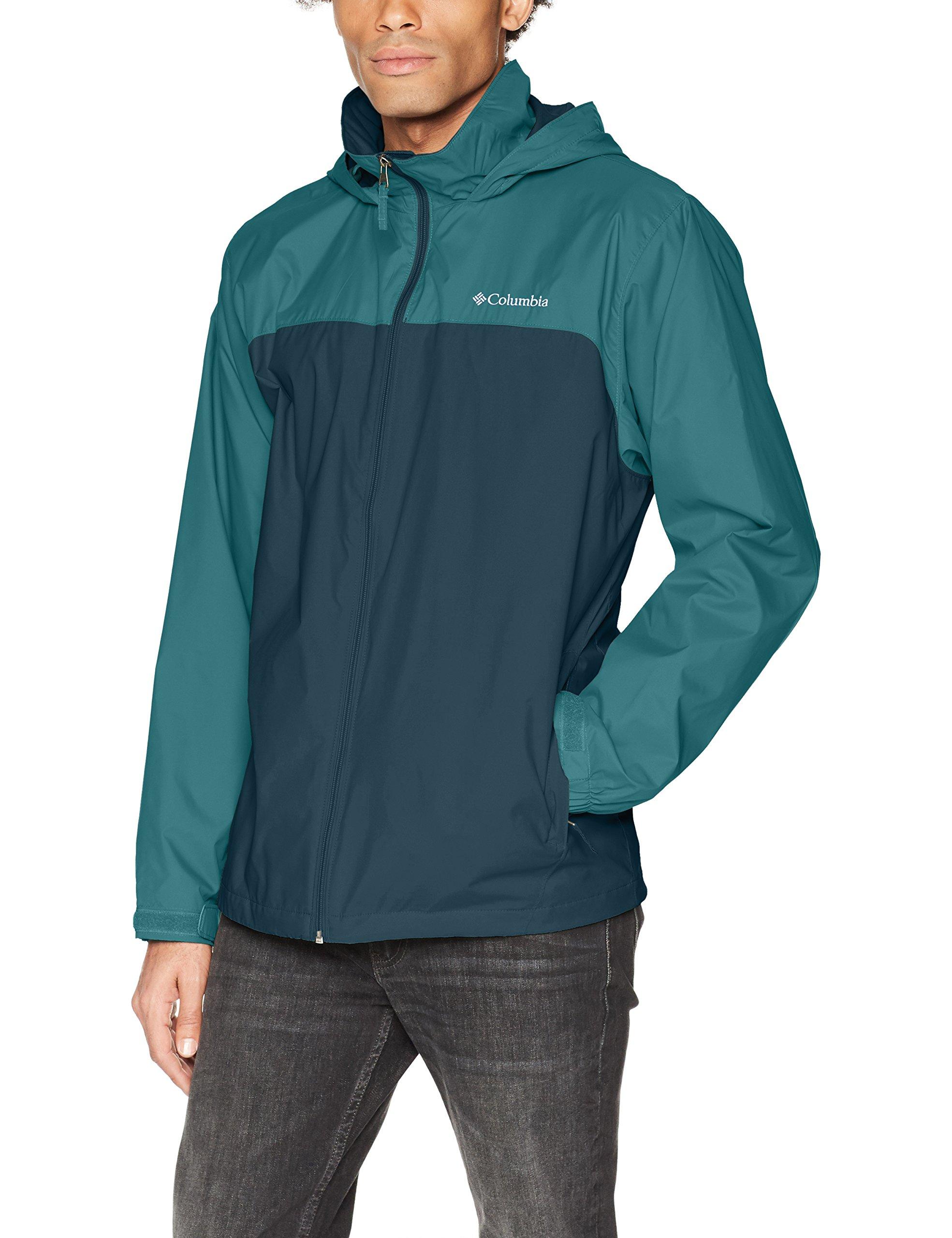Columbia Men's Glennaker Lake Lined Rain Jacket, Night Shadow, Poseidon, M
