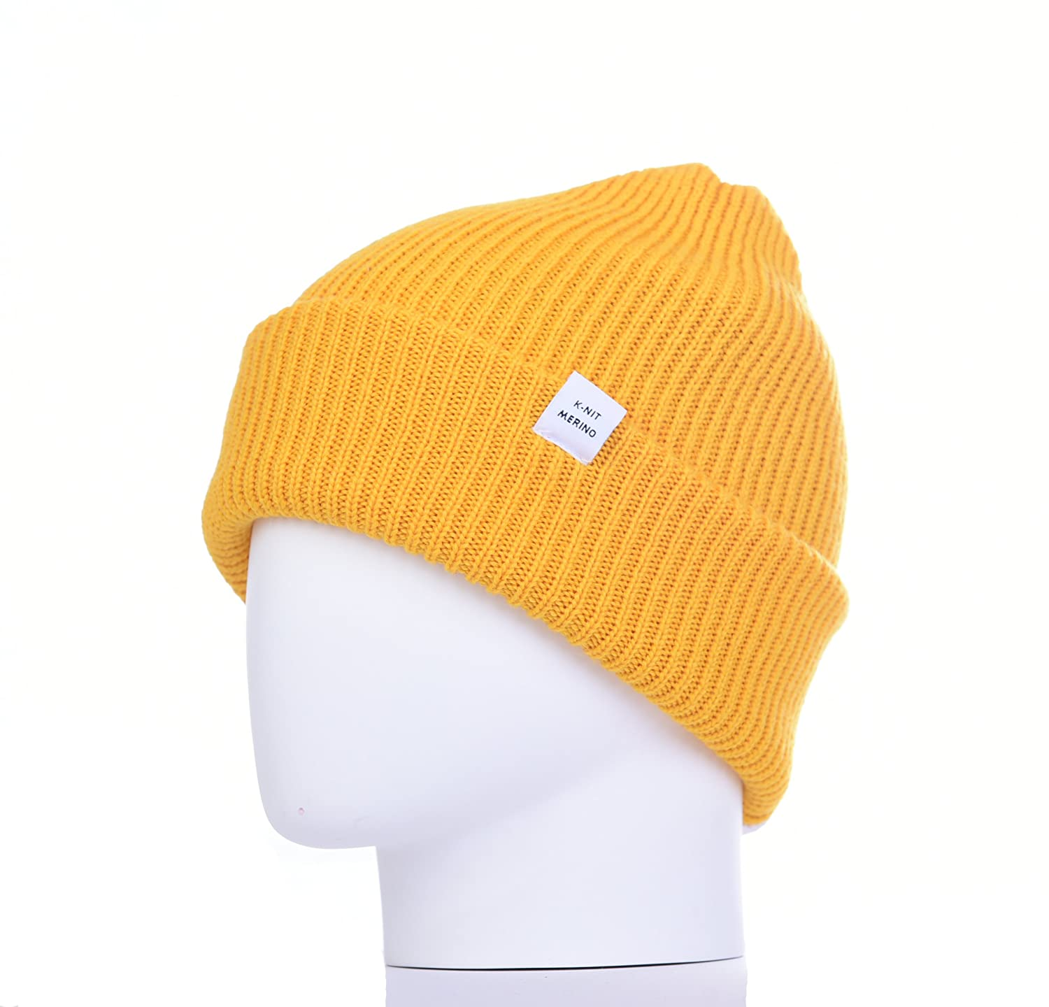 2de88272c K-nit 'Bowen' Turn Up Merino Wool Beanie Hat