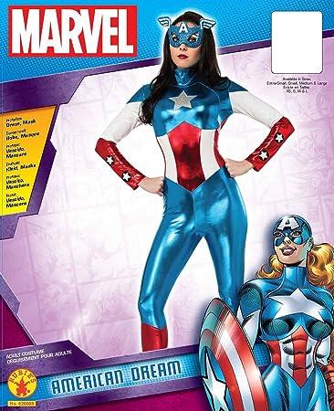 Ladies MISS American Dream Costume Capitan America Avengers Costume