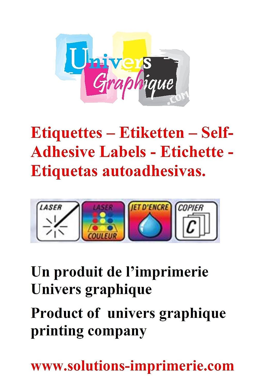 500 A4 foglio 4 adesivo 210 x 74,2 mm etichetta di carta adesiva Inkjet ed etichetta laser