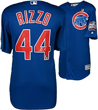 new styles b4a08 55a6a Anthony Rizzo Chicago Cubs 2016 MLB World Series Champions ...