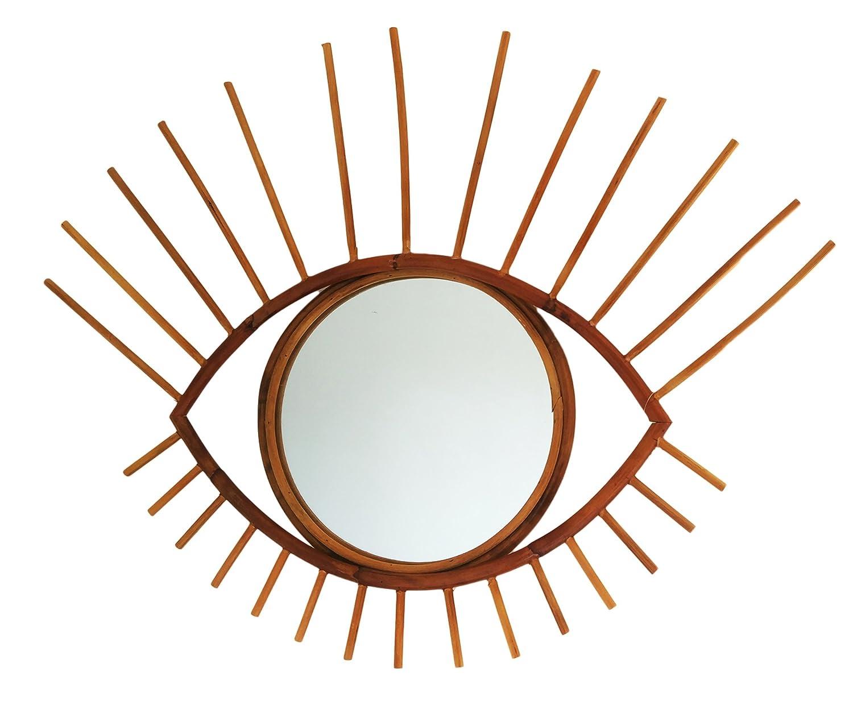 Espejo de Rattan Modelo Ojo