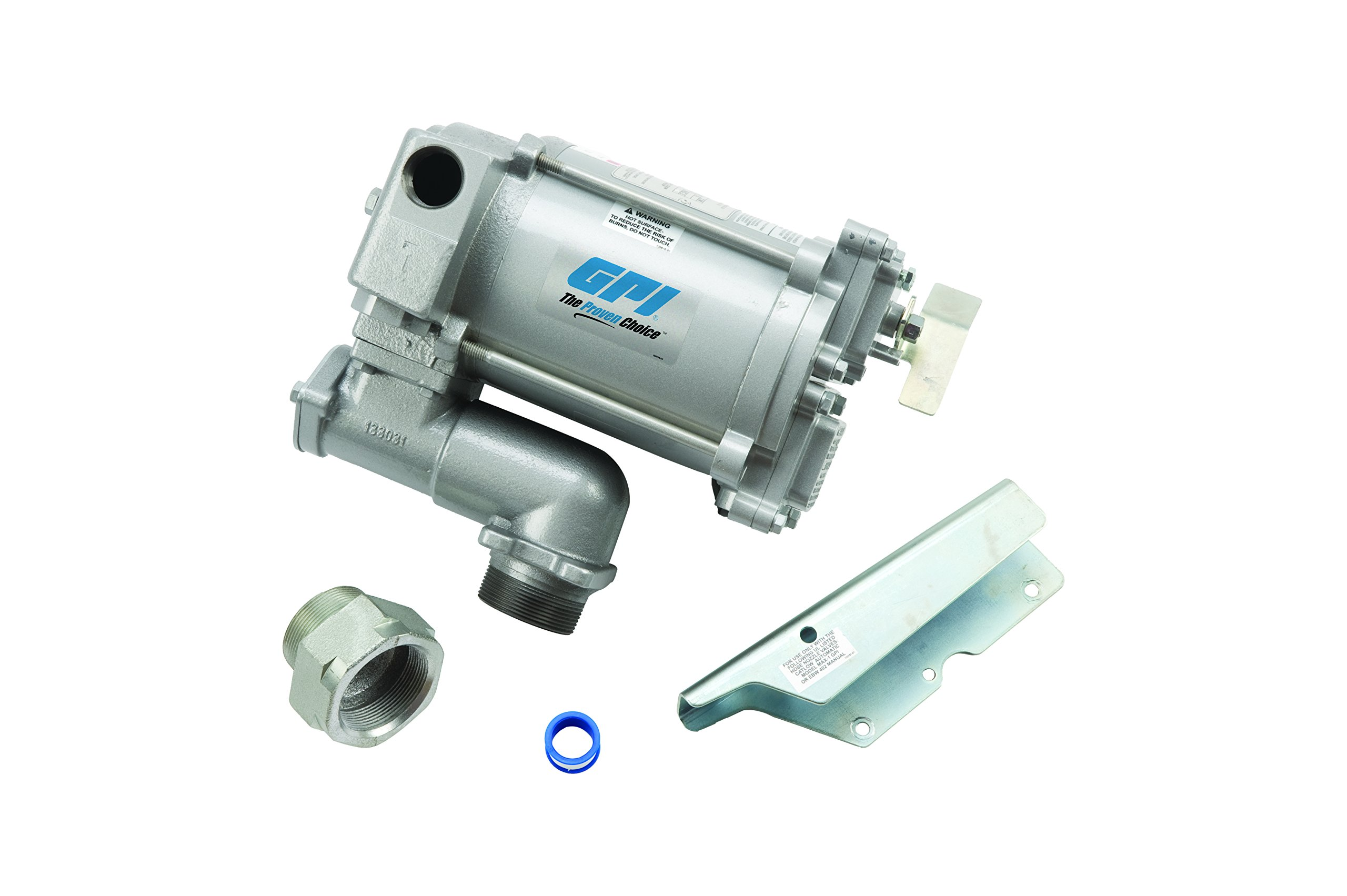 GPI 133200-03, M-3120-PO High Flow Cast Iron Fuel Transfer Pump 20 GPM, 115-VAC, 1-Inch Outlet, 1-Inch X 0.75-Inch Reducer Bushing, Pump Only
