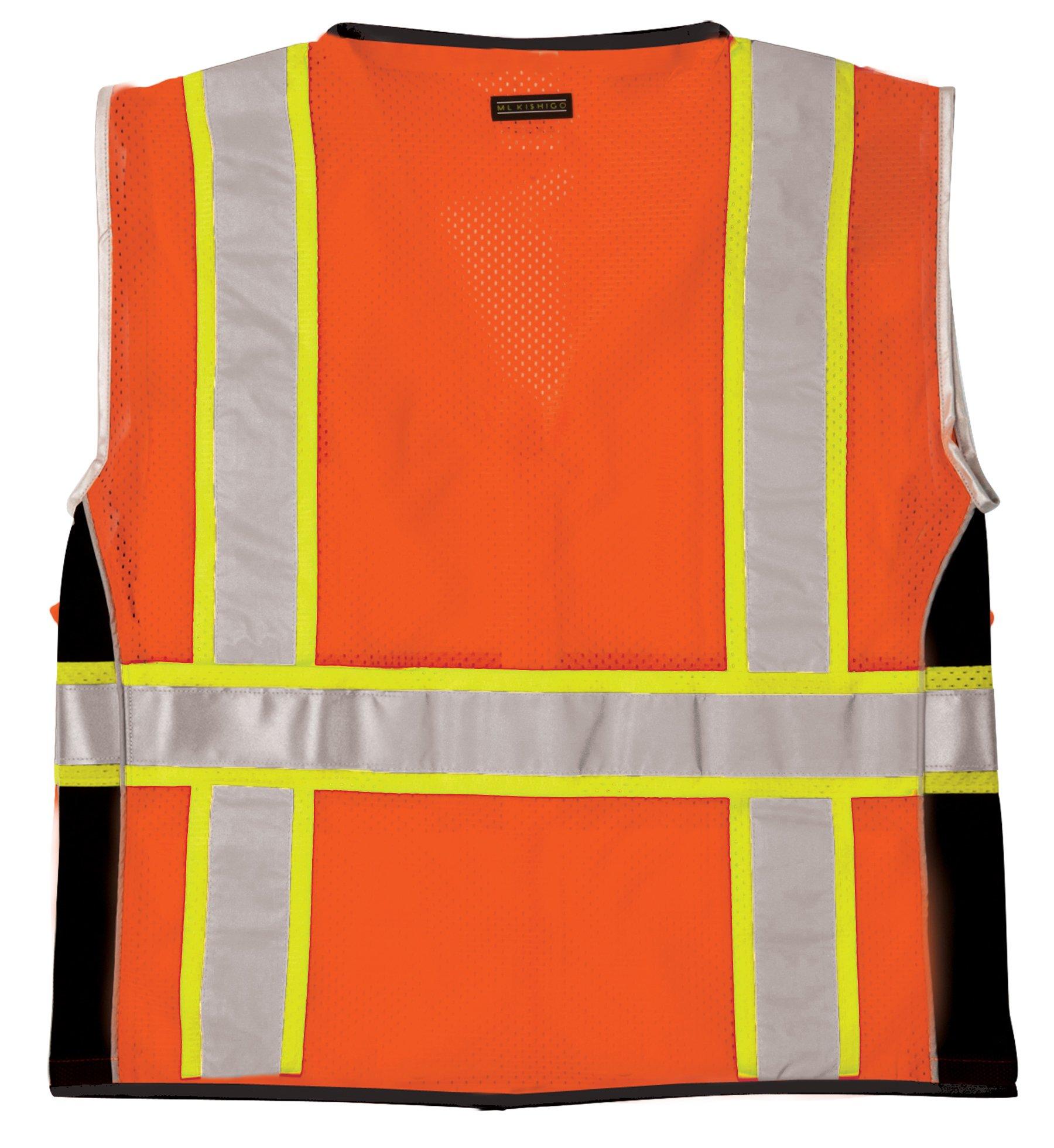 ML Kishigo 1514 Ultra-Cool Polyester Black Series Heavy Duty Vest, Large, Orange by ML Kishigo (Image #2)