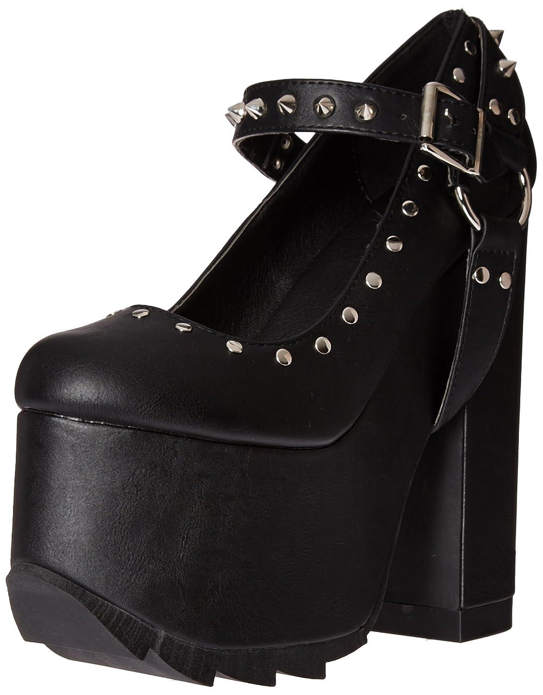 Demonia Women's Cra02/bvl Platform Pump B014J0F97K 8 B(M) US|Black Vegan Leather