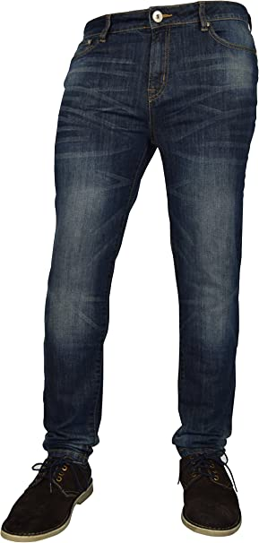 NEW MENS DENIM STRETCH SKINNY SLIM FIT BLACK DARK LIGHT WASH JEANS