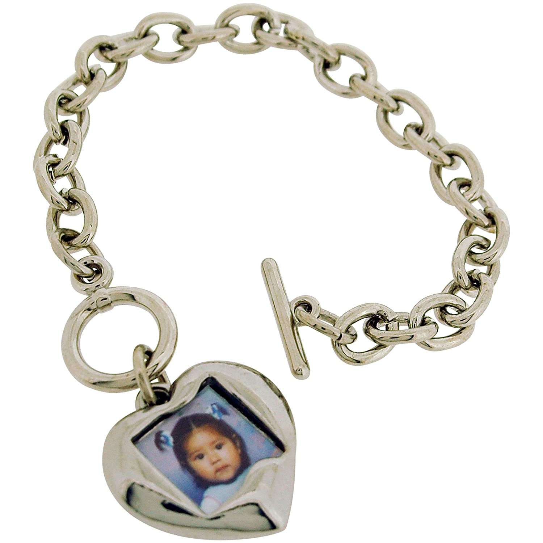 T-Verschluss Armband mit Herzförmigerm Fotoanhänger: Ashley B ...