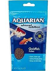 AQUARIAN Complete Nutrition, Aquarium Goldfish Food Pellets Also Suitable For Small Pond Fish, 100 g Bag