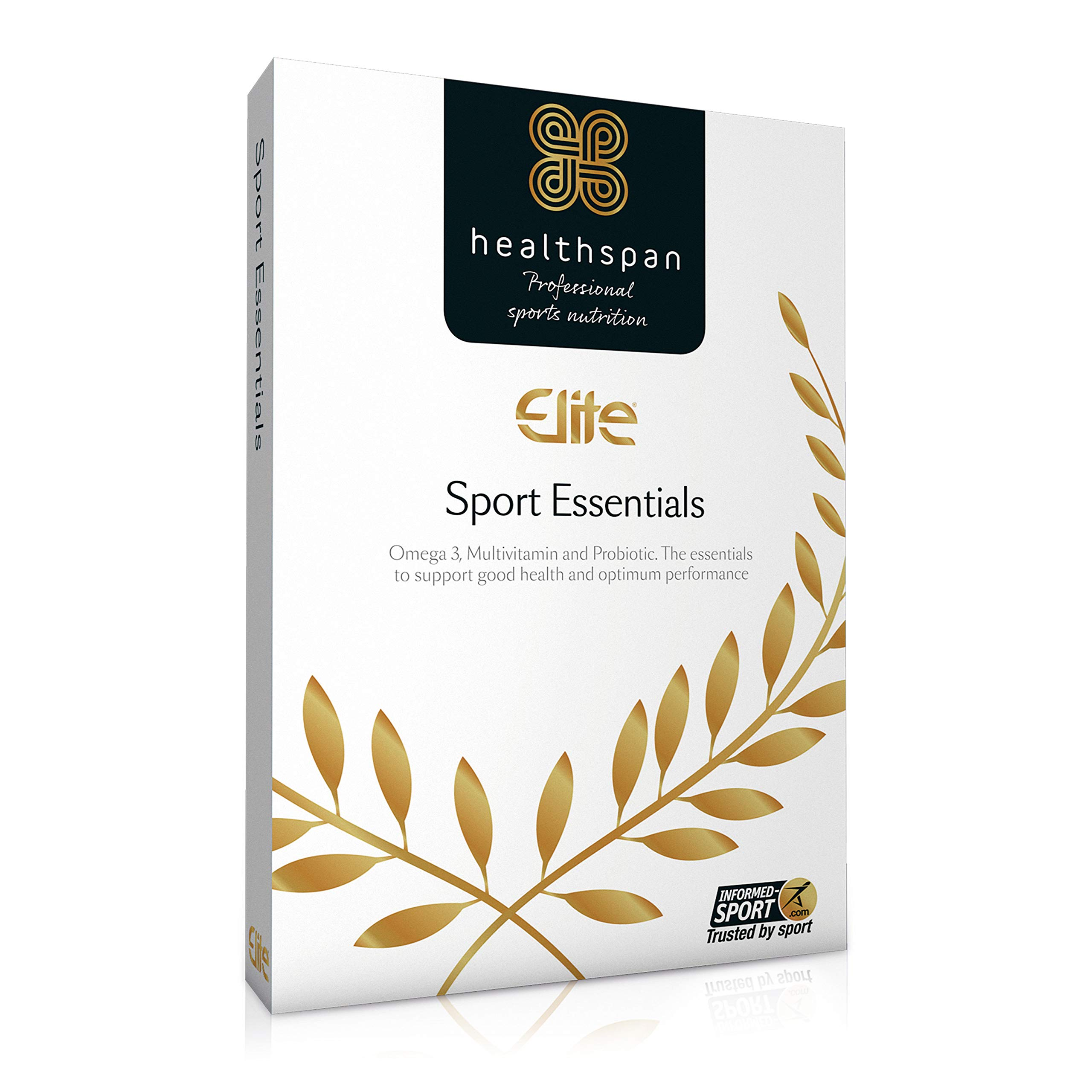 Sport Essentials | Healthspan Elite | 28 Day Supply | All Blacks Official Partner | with Vitamin C & Vitamin D3 | Informed Sport Accredited | Multivitamin | Omega 3 | Probiotic