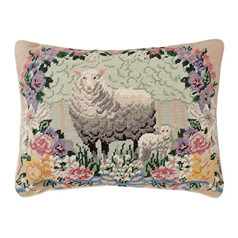 Amazon.com: C&F Home Needlepoint 4 Seasons Country Lamb ...