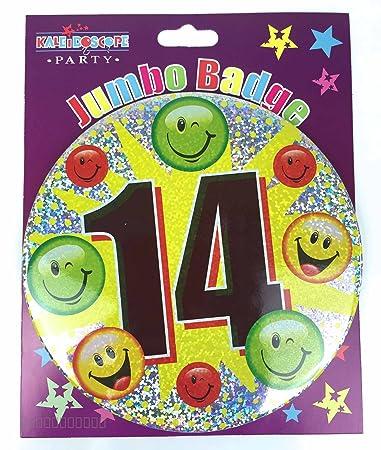 Amazon.com: Edad 14 cumpleaños Insignia 14th cumpleaños ...