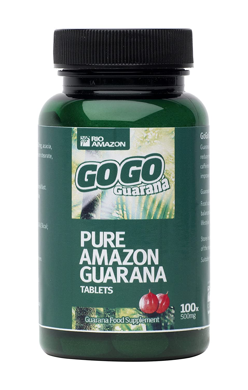 Rio Amazon GoGo Guarana 500mg, 100 vegipestañas: Amazon.es: Salud y cuidado personal