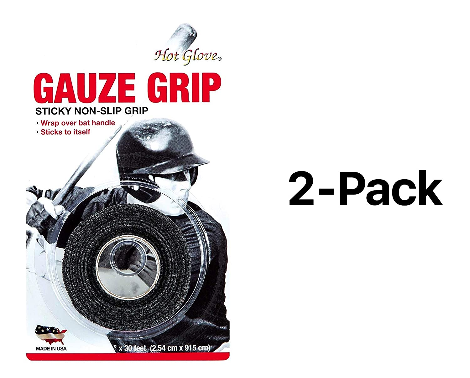 Unique Athletic-baseball & Softball Gauze Grip Bat Tape Each Roll 2209 (2-Pack) Unique Sports