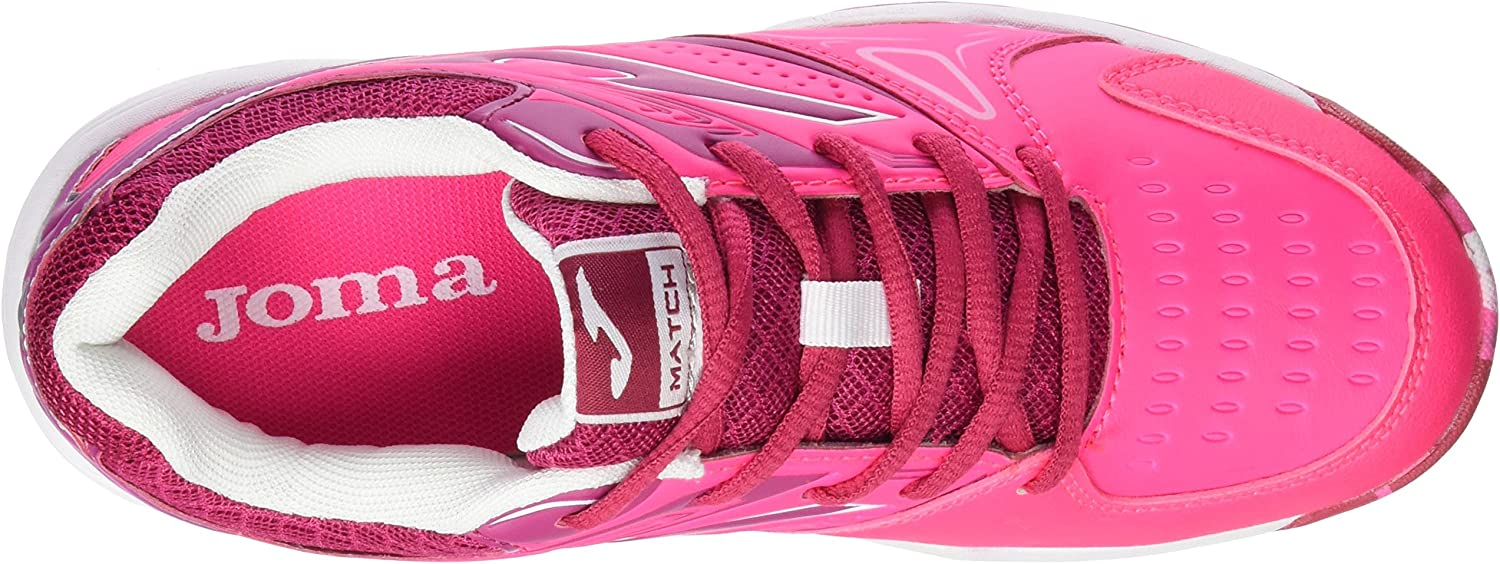 Joma Match Junior 610 Rosa Zapatillas de Tenis, Niñas: Amazon.es ...