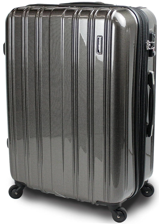 【SUCCESS サクセス】 スーツケース 3サイズ( 大型  ジャスト型  中型 ) TSAロック 搭載 超軽量 レグノライト2020~ ミラー加工 キャリーバッグ B00BE1A694  カーボンブラック 大型 74㎝