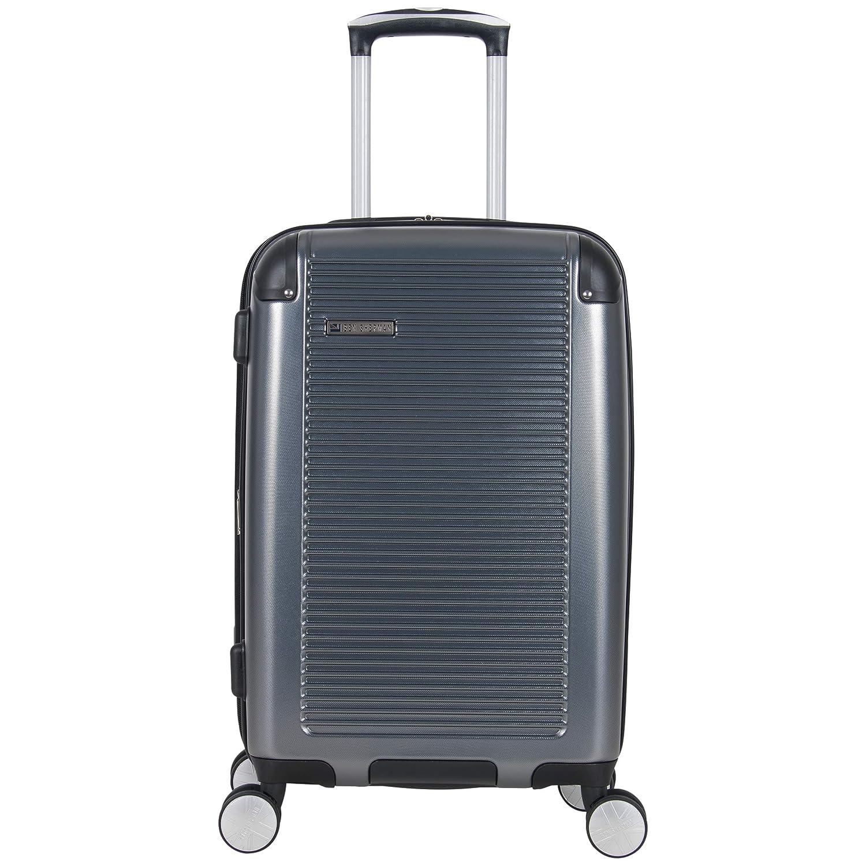 BEN SHERMAN Norwich 20 Lightweight Hardside PET Expandable 8-Wheel Spinner Carry-On Suitcase, Gunmetal