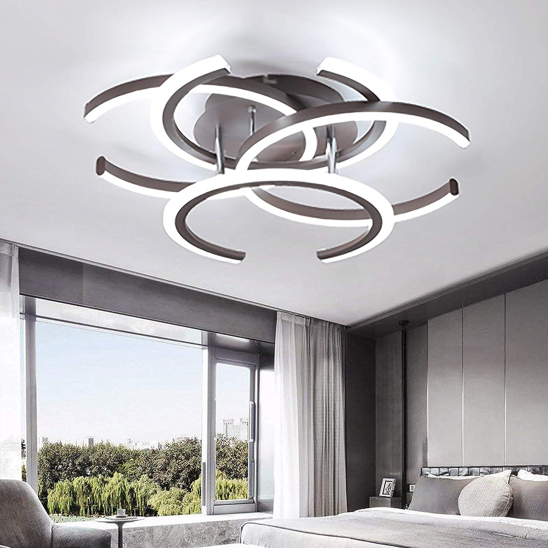 Plafonnier LED à encastrer avec une lumière de plafond moderne à 4 lumières pour la chambre à coucher Salon Salle à manger Cuisine