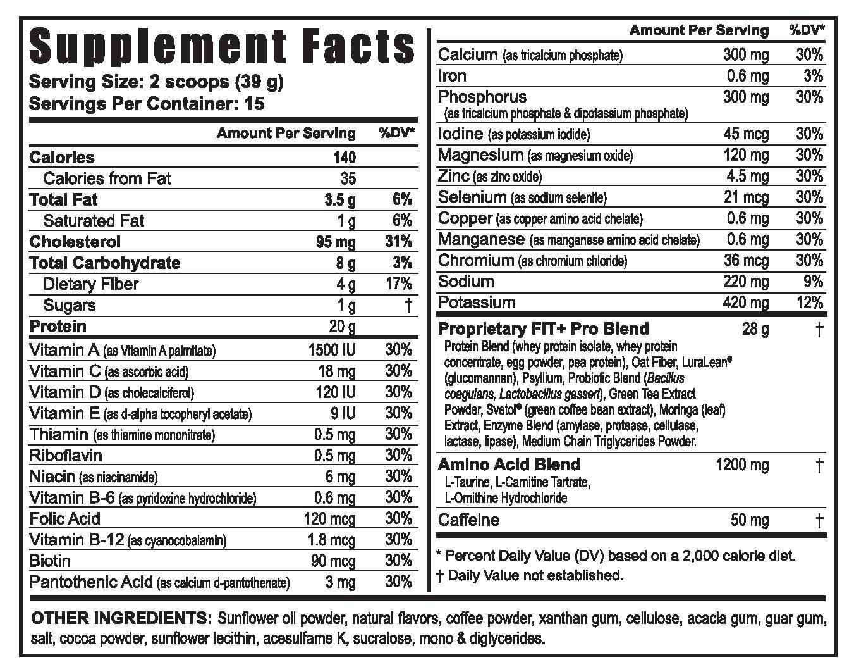 FIT+pro™ Weight Management Shake - Caramel Latte - 6 Pack