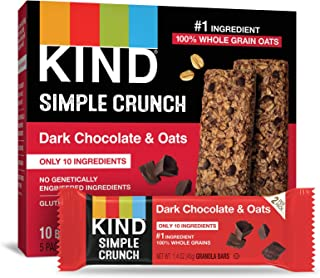 product image for KIND Simple Crunch Bars, Dark Chocolate & Oats, Gluten Free, Low Sugar, 40 Packs of 2-0.7Oz Bars