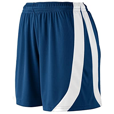 Augusta Sportswear Big Girl's Triumph Short, NAVY/WHITE, Large