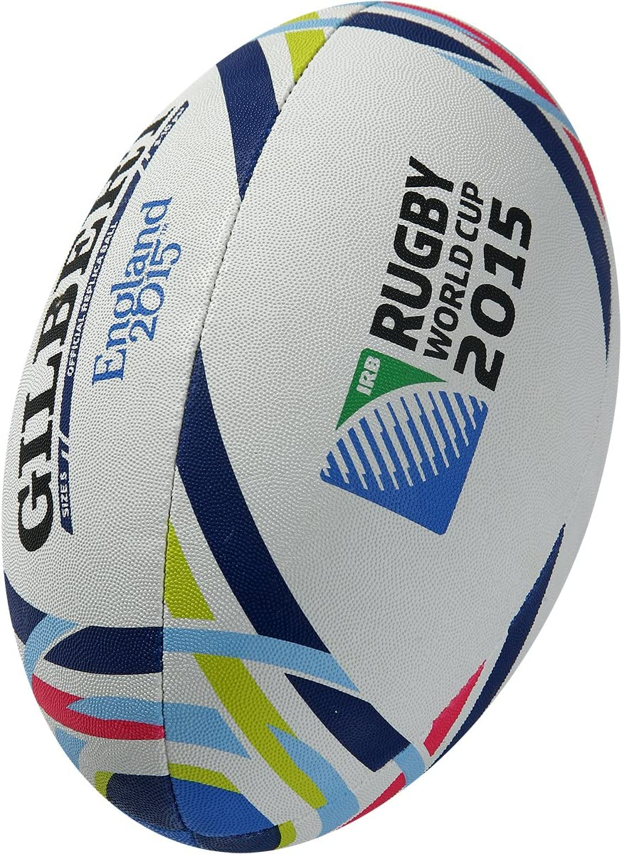 Gilbert Official RWC 2015 - Pelota de Rugby, Color Blanco, Talla 5 ...
