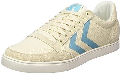 Hummel Damen SL. Stadil Herringbone Low Sneaker, Weiß (Pristine White), 40 EU