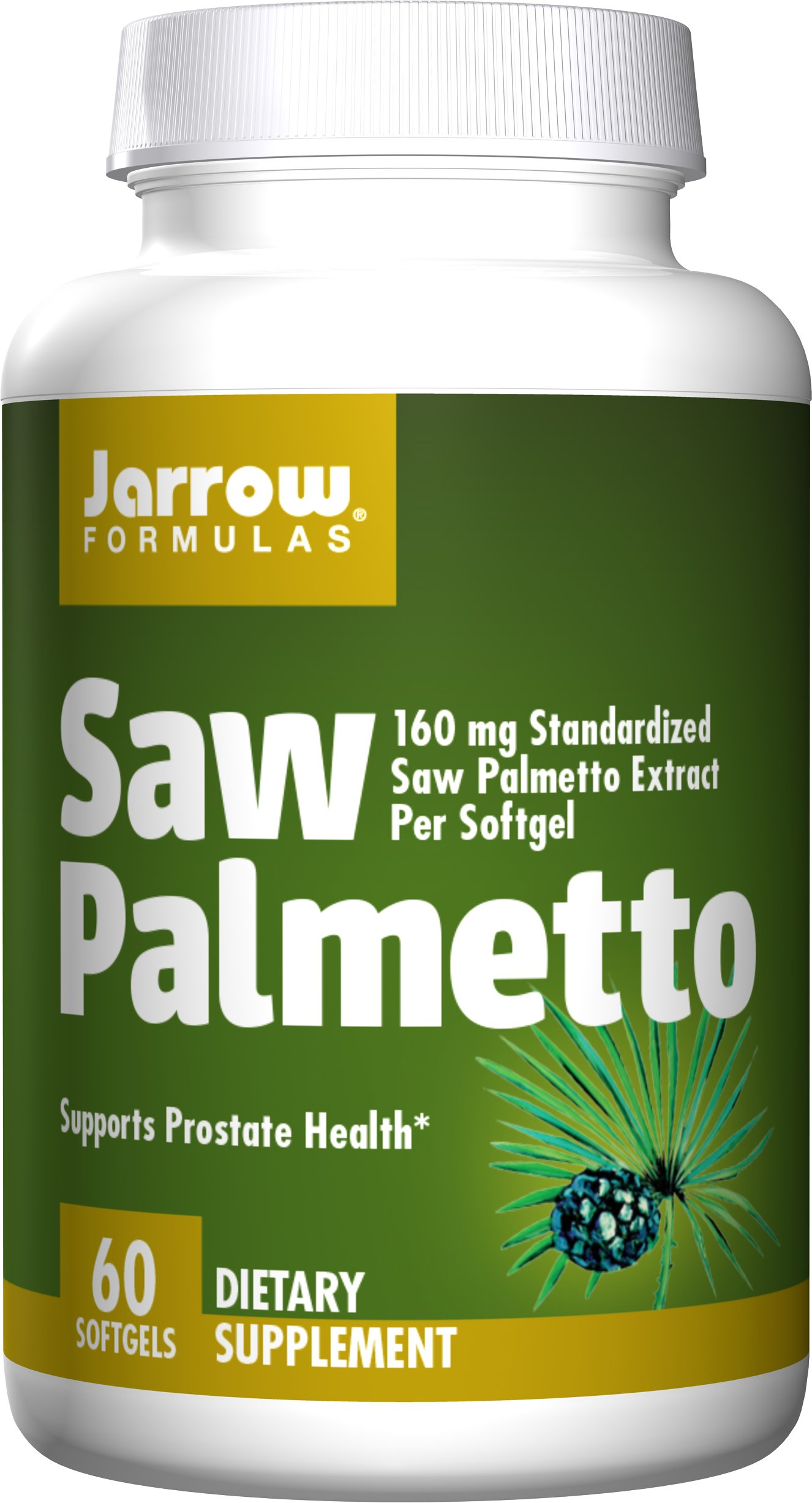Jarrow Formulas Saw Palmetto, For Prostate Health, 60 Softgels (Pack of 2)