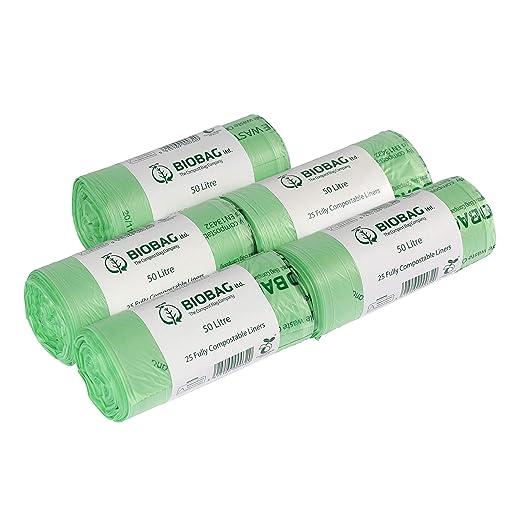 50 litros x 125 agricultor biodegradables bolsas de basura ...
