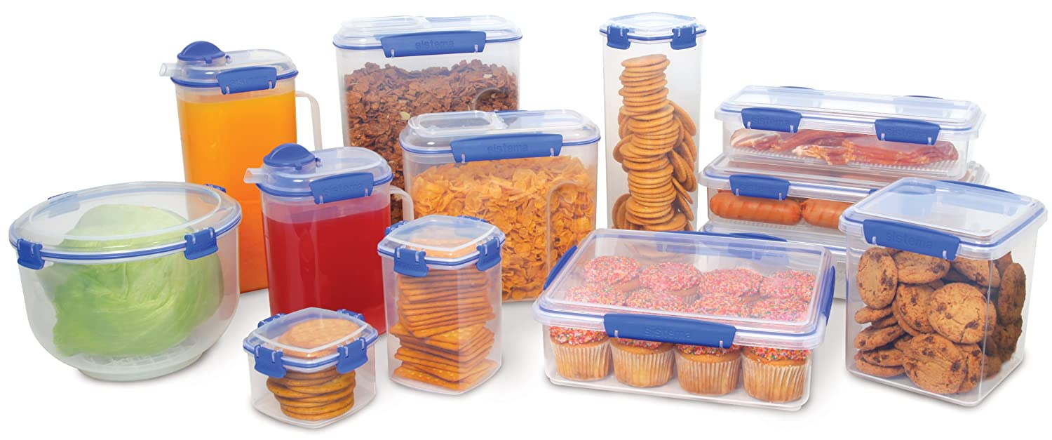 Captivating Amazon.com: Sistema Klip It Collection Cracker Food Storage Container,  Medium, 30 Ounce/ 3.75 Cup: Food Savers: Kitchen U0026 Dining