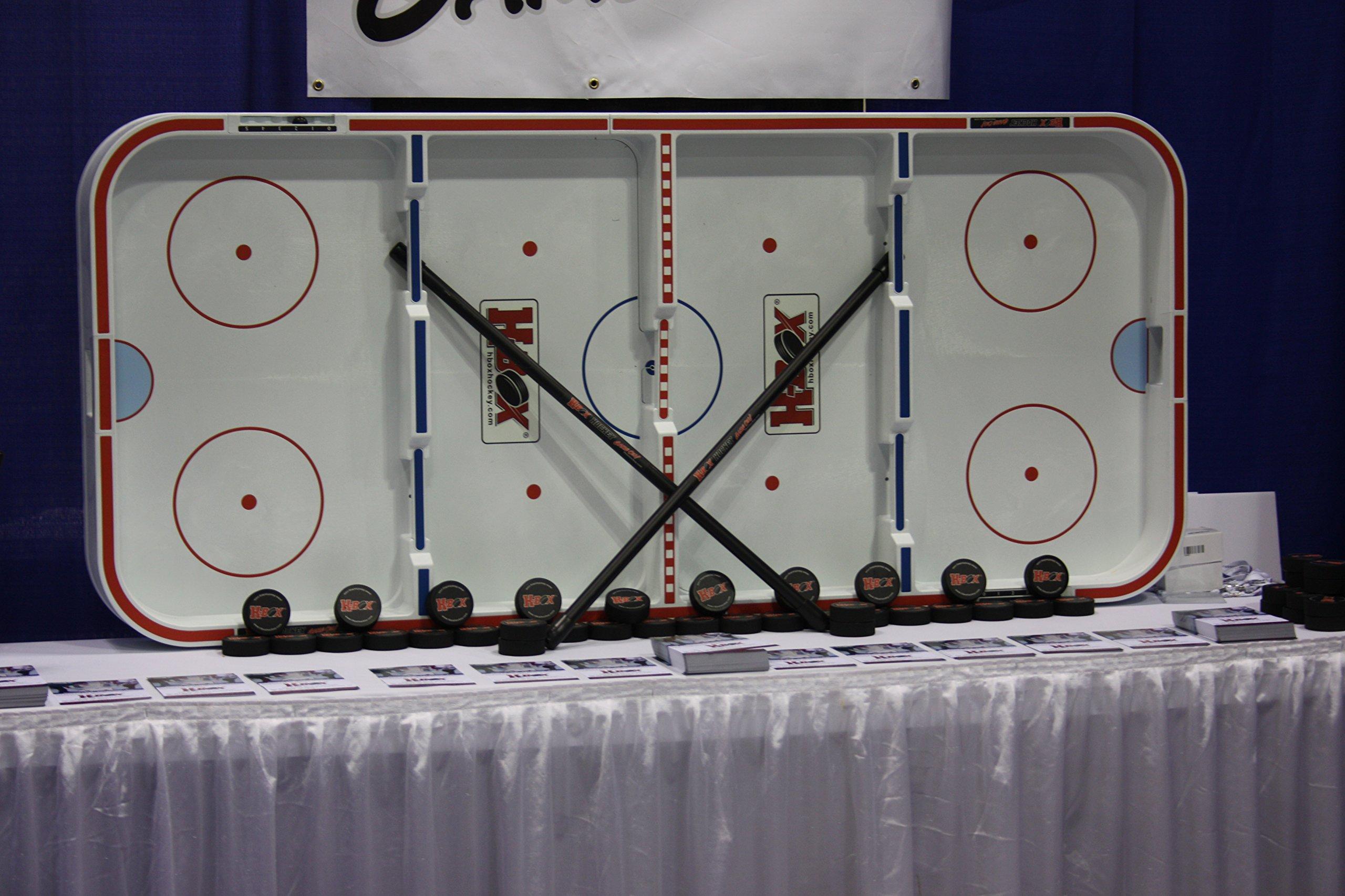 Box Hockey Game with Fiberglass Sticks & Real Puck (Universal, 42)