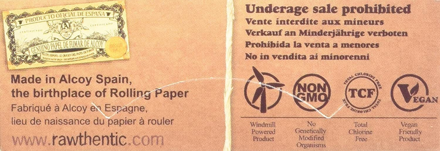 /Pack of 24 Raw Rolling Paper Fine/