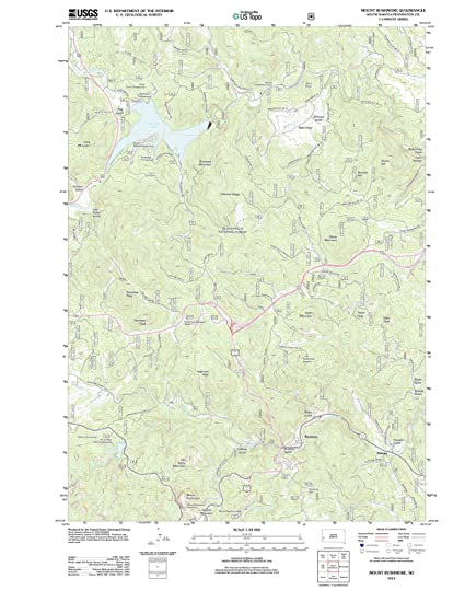 Amazoncom South Dakota Maps 2012 Mount Rushmore Sd Usgs - Mount-rushmore-on-us-map