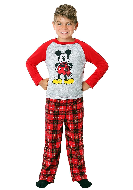 Mickey and Minnie Mouse Christmas Holiday Family Sleepwear Pajamas ...