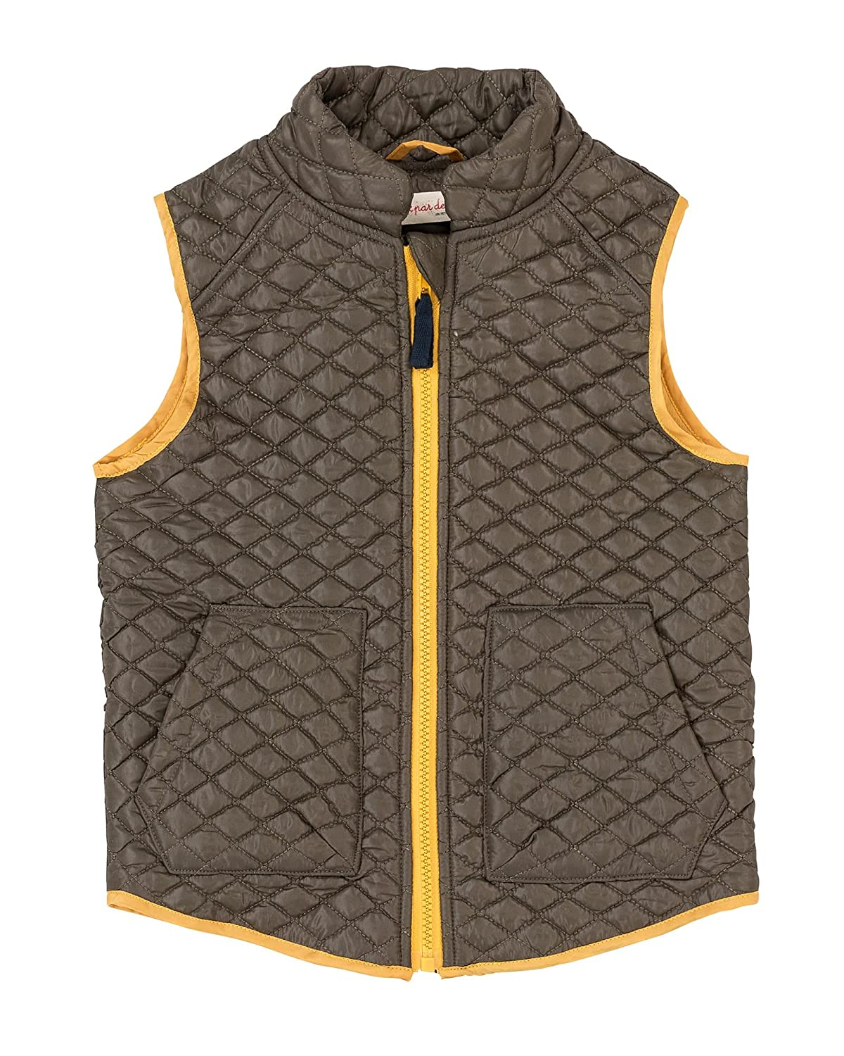 Deux par Deux Boys' Quilted Vest Hey, Buffalo Hill, Sizes 5-12
