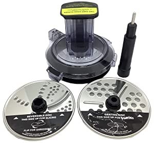 Ninja Chute Feed Lid Slicer Shredder Grater Discs for BL491 BL492 BL493Z BL494 40oz Bowl Compact Blender