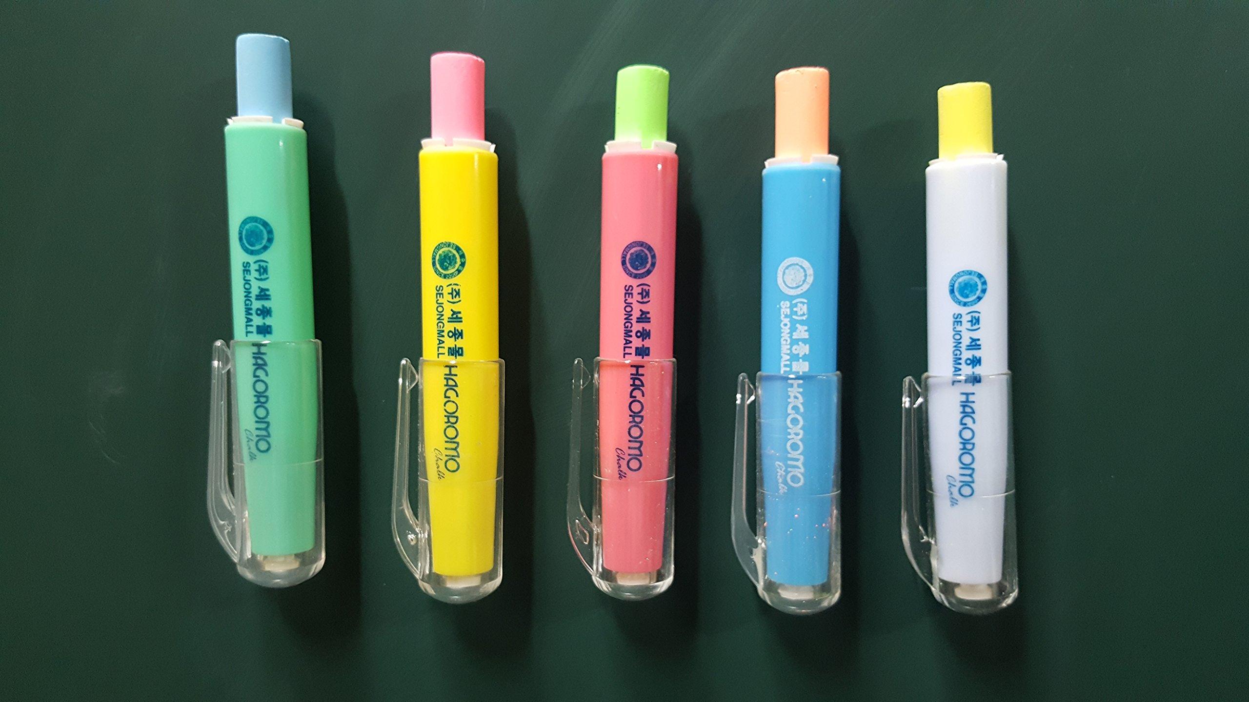 Hagoromo Wood Holder Case with 5 Colors Chalk Holder