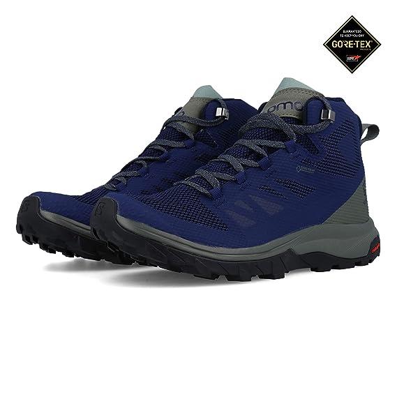 buy online 9ad3a a1f62 SALOMON Outline Mid GTX Shoes Men Blue 2019